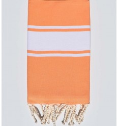 Flat light tangelo beach towel