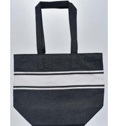 Dark midnight blue beach bag