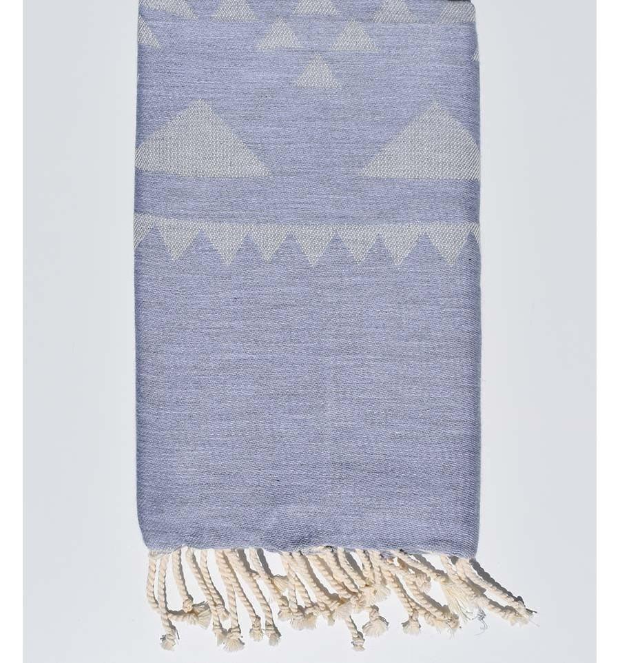 Grey Bohemian Beach Towel Fouta Tunisia