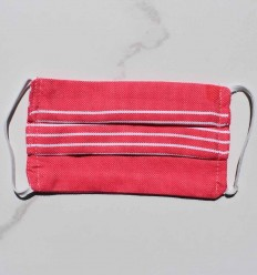 Pink with stripes Kids Face Mask