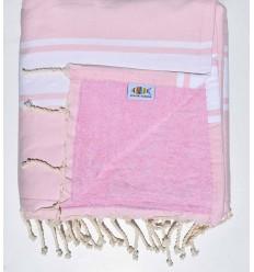 Light pink sponge beach towel