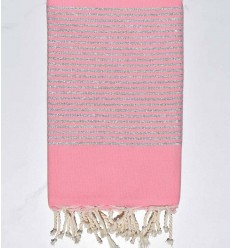 FOUTA Lurex flat light pink