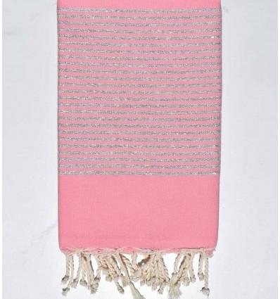 FOUTA Lurex flat light pink