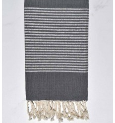 Flat dark gray lurex Fouta