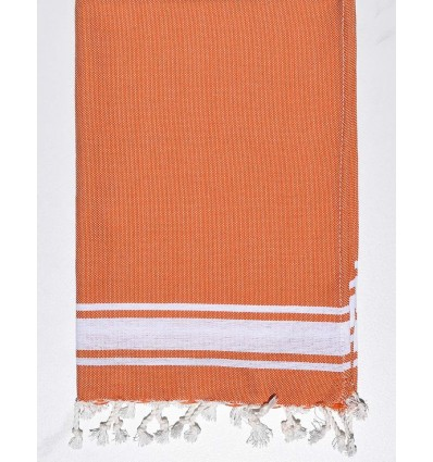 Mini serviette orange avec rayures