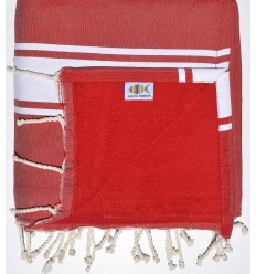 beach towel, doubled sponge red