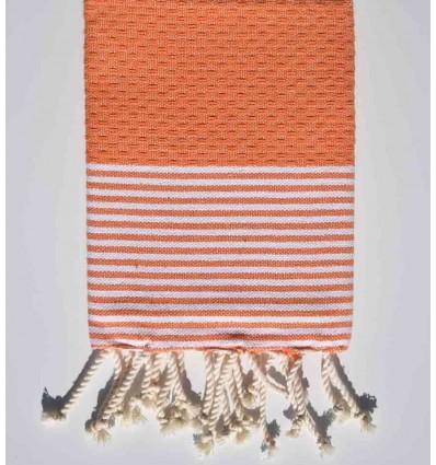 Serviette de plage orange  avec rayures