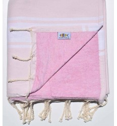 Very light pink sponge beach towel