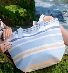 multicolored beach bag