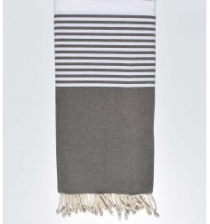 Taupe brown throw