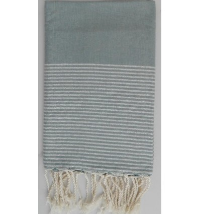 Flat pale green lurex fouta
