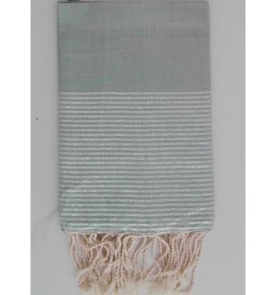 Flat celadon green lurex fouta