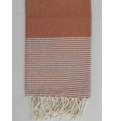 Flat chestnut brown lurex fouta