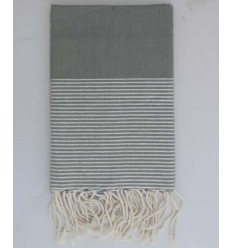 Flat grey lurex fouta