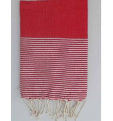 Flat red lurex fouta