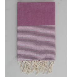 Flat purple lurex fouta -