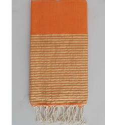 Flat orange lurex fouta