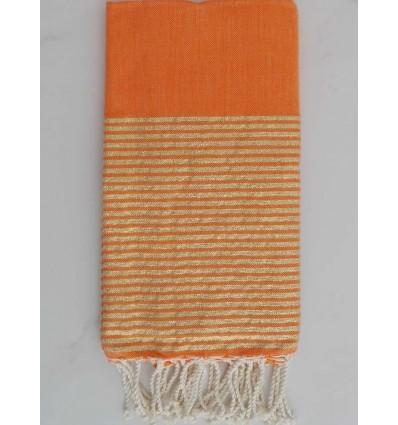 Flat orange lurex fouta