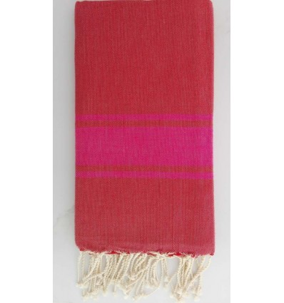 FLAT ENGLISH RED FOUTA