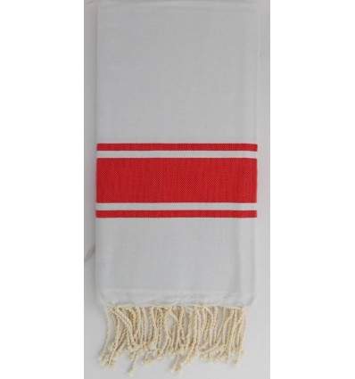Flat light grey striped red fouta