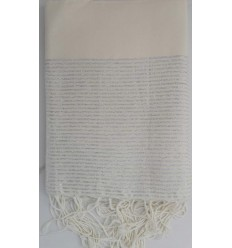 Flat blond lurex fouta