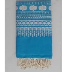 Khomsa azure blue fouta