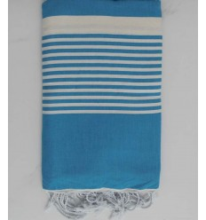Rich electric blue throw