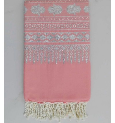 Khomsa nasturtium pink fouta
