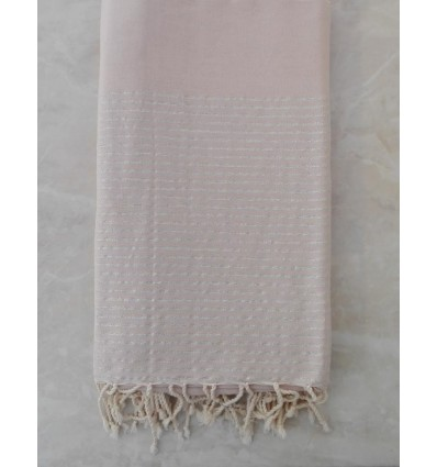 Light sand with silver lurex throw