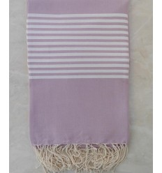 Light mauve with stripes throw