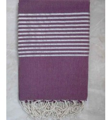 Mauve with silver lurex throw