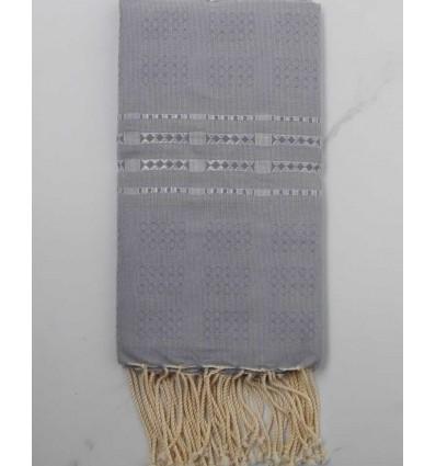Thalasso blue horizon with grey patterns fouta