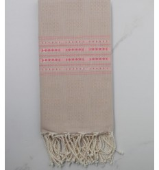 Thalasso beige and pink fouta
