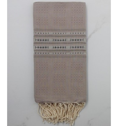 Thalasso taupe with patterns fouta