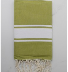 Olive green beach towel