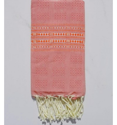 Thalasso strawberry pink with red patterns fouta