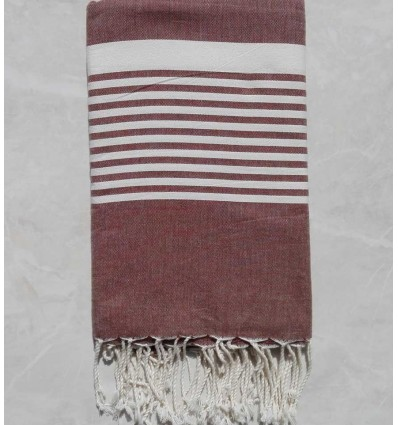 Brown with stripes throw