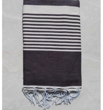 Anthracite grey striped throw