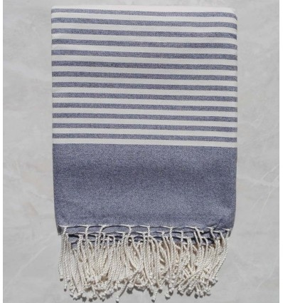 Charcoal grey striped throw