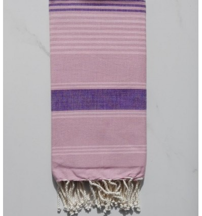 Dina pink striped purple and light pink fouta