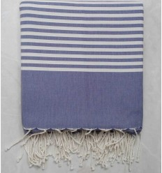 Slate blue with stripes throw