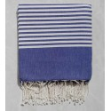 Lapis lazulli striped throw