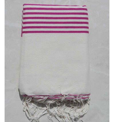 Creamy white striped amaranth throw