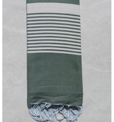 Green asparagus with stripes throw