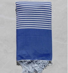 Admiral blue striped throw