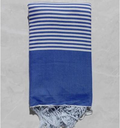 Admiral blue striped throw
