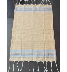 Mini yellow striped blue fouta