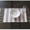 Mini white and brown fouta