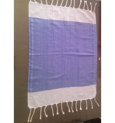 Mini blue striped white fouta