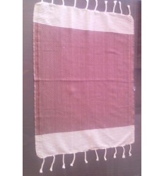 Mini Mahogany striped white fouta